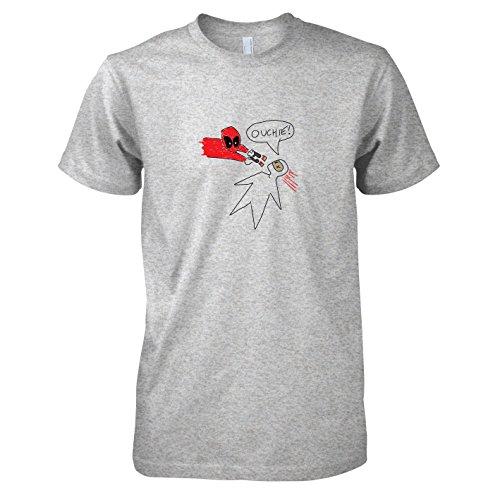 TEXLAB - Pool Zeichnung - Herren T-Shirt, Größe L, (Kostüme Zeichnungen Superhelden)