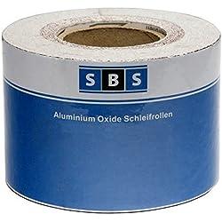 SBS Papel de lija Rollo 115 mm x 50 m Grano 40 Óxido de aluminio rollo
