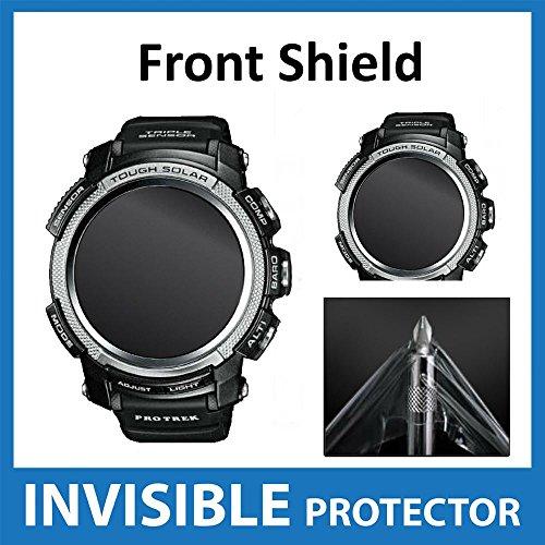 Casio Protek PRW 2000Displayschutzfolie unsichtbar vorne Shield Military Grade Schutz Exklusiv von Ace Fall