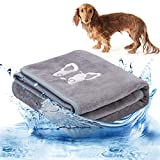 Legendog Hundehandtuch, Großer Weich Hunde Bademantel Handtuch Microfiber Schnelltrocknend Warm Haustierhandtuch für Hunde Katzen 70 * 140 cm