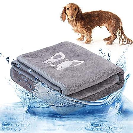 Legendog Hundehandtuch, Großer Weich Hunde Bademantel Handtuch Microfiber Schnelltrocknend Warm Haustierhandtuch für…