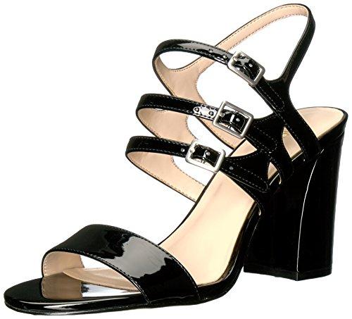 Damen Offene Sandalen mit Keilabsatz, Schwarz (Black), 38 EU (6 UK) ()