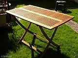 Klapptisch, Gartentisch, Holztisch, Tisch, von Garden Pleasure 120 x 70 cm, Eukalyptus FSC