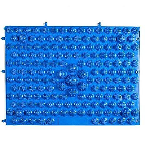 EQLEF® 1 pièces 29 * 39 Bleu Tuba super douleur avec Toe Plate Massage Foot Pad