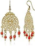 Swan Drop Earrings for Women (Gold) (KBI...