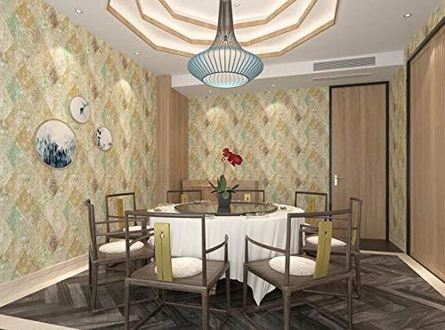 Yirenfeng Pvc-Tapete Beauty-Salon Rezeption Hintergrundbild Tapete Hotelzimmer Hotelzimmer Antike Tapete A -