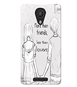 Fuson Best Friends Back Case Cover for XIAOMI REDMI 3S - D4071