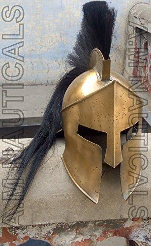 historicalmuseum 300King Leonidas Spartan Helm Warrior Kostüm Mittelalter Helm rutschsicher ()