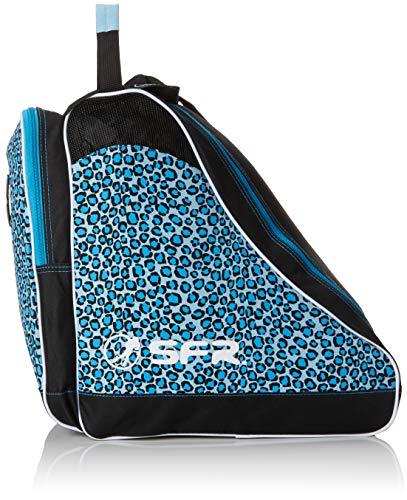 Sfr Skates SFR Designer Ice & Skate Bag, Bolsa de tela y de playa Unisex Adulto, Azul (Blue Leopard), 24 x 15 x 45 cm