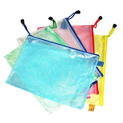 Preisvergleich Produktbild Masterein A3 / A4 / A5 / A6 / B4 / B5 / B9 Gitter transparente Dokumententasche PVC Zipper Briefpapier Pouch Bag