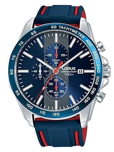 LORUS Orologio Cronografo Quarzo Uomo con Cinturino in Silicone RM389EX9