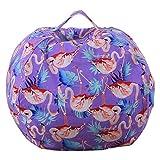 Plüsch-Spielzeug-Kleidung Quilts Organizer, großer Korb für Stofftiere, Kuscheltiere, Wäsche, Bettwäsche, Kinderkleidung, Doppel als Sitzsack, 15