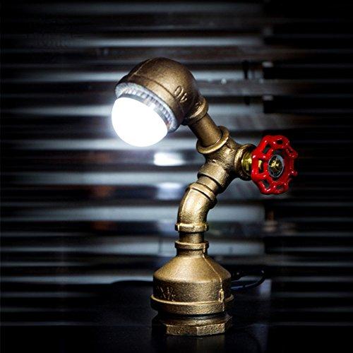 JAYLONG Steam Punk Wasserpfeife Retro Tischleuchte Loft Industrielle Eisen Rost Vintage E27 LED Wandleuchte Schreibtisch Leuchter Für Wohnzimmer Schlafzimmer - Höhe Bar Schreibtisch