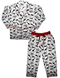 ShopMozo Unisex Pure Cotton Animal Printed Night Suit Pyjama Top Combo Set(White)