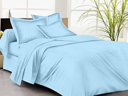 Trance Single Duvet Cover with 1 pillow cover (Sky Blue) - 60