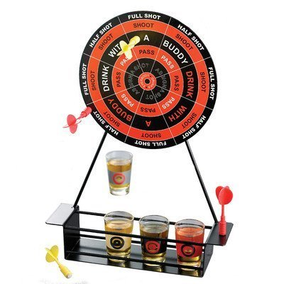 Crystal Clear Shot Glass Darts Bar Game Set by Jay Imports