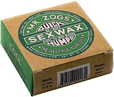 Mr. Zogs Sex Wax - Cera para tabla de surf (1 unidades, agua fría a templada)