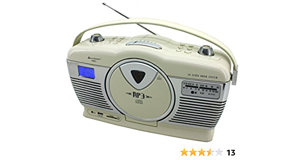 Soundmaster Rcd1350be Retro Radio Mit Cd Mp3 Usb Sd Lcd Uhr Mit Wecker Audio Hifi