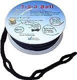 1-2-3-Seil schwarz Spezialseil Hängemattenbefestigung Länge 10 Meter Ø 8 mm