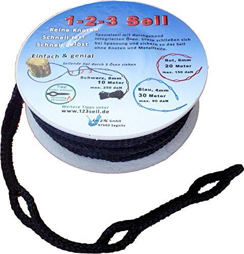 1-2-3-Seil Spezialseil Hängemattenbefestigung 10 Meter Ø 8 mm