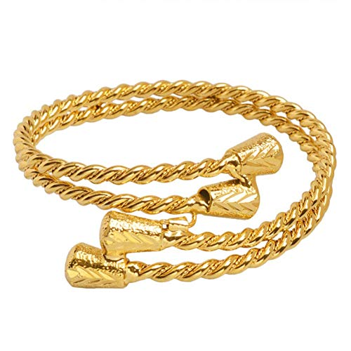 743261fff470 Awertaweyt Pulsera de Cuentas New Gold Color Arab Dubai Bracelet Ethiopian  Bangle African Accessories for Women Jewelry Gifts