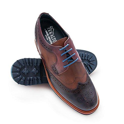 Zeraltos. Scarpe da uomo con aumentano interni. Aumenta +7 cm. Progettato da Angel Infantes.
