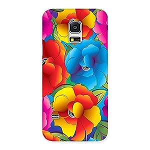 Impressive Flower Art Print Back Case Cover for Galaxy S5 Mini