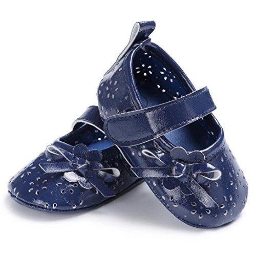 kingko® Beiläufige Art und Weise weibliche Babyplastikkörperprinzessinwind breath Schuhe Blau