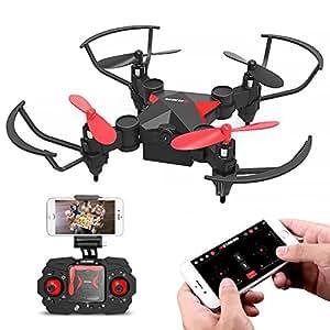 Metakoo Mini Drone per Bambini, HD Camera WiFi FPV, Controllo di Altitudine, Gyro a 6 Assi, Headless Mode, Tasto di Sollevamento/ Avvio/ Ritorno, Volo di Traiettoria, Induzione di Gravità, 3D Flip, M2