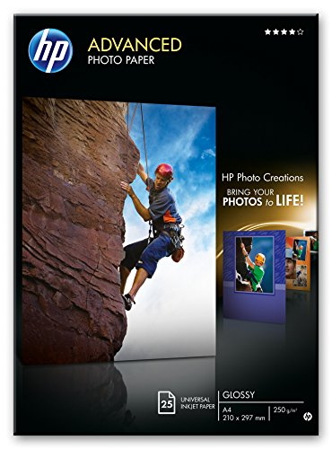 HP Advanced Q5456A - Papel fotográfico satinado (25 hojas, A4)