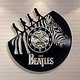 GuoEY Beatles 3D Vinyl Record Uhr Ethylen Musik Wand Uhr Retro-Handgemachte dekorationwand Uhr