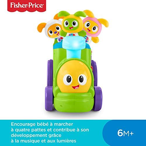 Fisher-Price le Train de Bebo et Ses Amis Robot Jouet Motorisé, Éveille Bébé en Musique, 6 Mois et Plus, FXH93