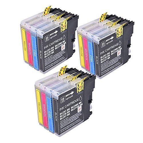 PerfectPrint Kompatibel Tinte Patrone Ersetzen für Brother MFC-250C 255CW 290C 295CN 297C 490CN 5490CN 5890CN 790CW 795CW 6490CW 6890CDW 990CW LC1100 LC980 (Schwarz/Cyan/Magenta/Gelb, 12-pack) (Tinte Lc1100 Cyan)