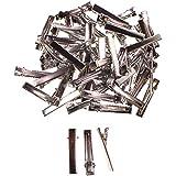 60 fermacapelli metallici con denti su un lato clip alligator per capelli di Curtzy TM