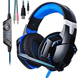 PS4 Headset KingTop Stereo PS4 Gaming Headset Wired Over-Ear-Kopfhörer mit Mikrofon für PS4 New Xbox One PC MAC Laptop iPad iPod