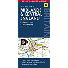 Road Map Britain 05 Midlands & Central England 1 : 200 000 (AA Road Map Britain)