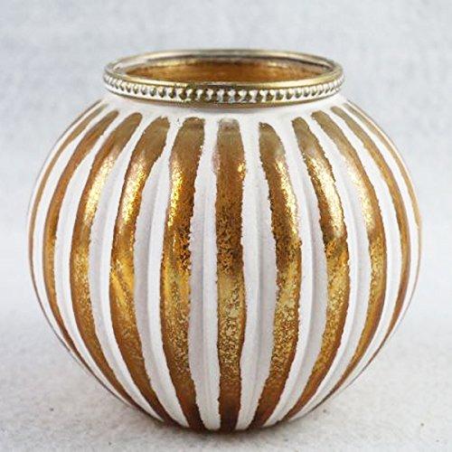 Portacandela in vetro marocchino candela oro bianco unico home lighting seasonal decor