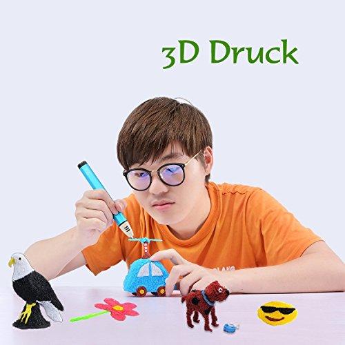 3D Stifte Set mit OLED Display, niedrige Temperatur 3D Pen, sicher für Kinder, Erwachsene und Bastler zu kritzeleien, basteln, malen und 3D drücken (nur kompatibel mit PCL Filament,nicht kompatibel mit PLA und ABS ) - 7