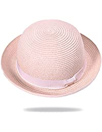 PLMWQAVDFN Campos de césped pequeña respiran Sombreros Caballero Dulce Domo  Arco Borde Sombrero Sombreros de Hebilla b86d622fb9e
