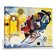 Vassili Kandinsky - Amarillo Rojo Azul, 1925 Cuadro, Lienzo Montado Sobre Bastidor (80 x 60cm)
