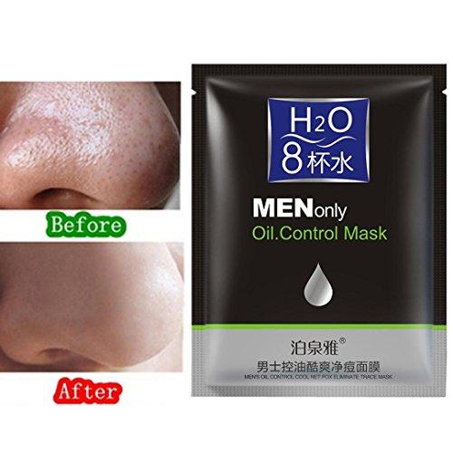 Ularma Herren Aktivkohle Tiefenreinigung Gesichtsmaske Schwarz Akne Mitesser Entferner Peelings Maske Reinigungsmasken mini Verpackung