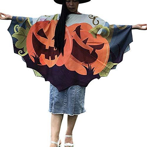 Clemunn Halloween Kapuzenmantel Kostüm Männlich und Weiblich Langen Samt Umhang mit Kapuze Robe Partei Hexe Teufel Vampir Kostüm Longstrickjacke (Orangec, 145 * - Weibliche Teufel Kostüm Bilder
