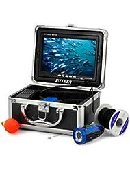 puteca 30m 4g tarjeta SD 7pulgadas LCD HD DVR Submarino sistema de cámara buscador de peces de pesca 800TV Mini lujo aluminio