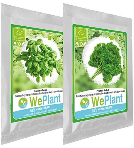 BIO Basilikum & Petersilie Pflanzen-Samen Set - indoor/outdoor