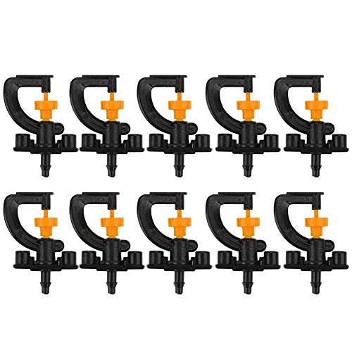 Rotary Sprinkler (akaddy 10pcs 360° Rotary G Type Micro Nozzle Sprinkler Plant Irrigation Atomizing)