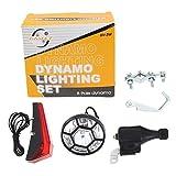 JER Bicicletta Dinamo Testa e luci Posteriori Set di Alimentazione di Sicurezza Senza batterie.