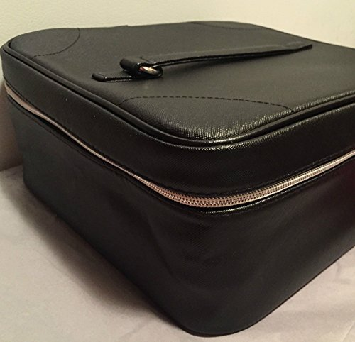 luxury-waterproof-cosmetic-train-case-in-royal-black-faux-leather-new-by-makeup-bag