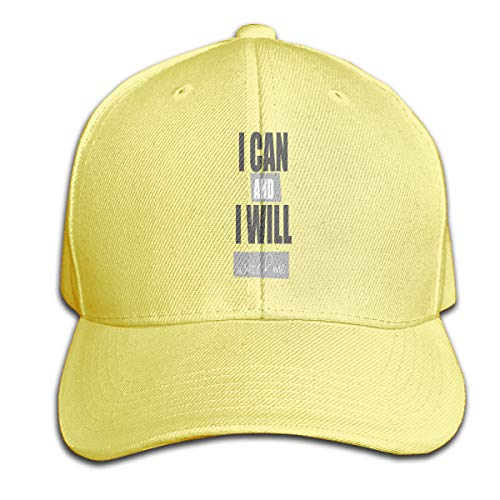 Osmykqe I Can and I Will Unisex Sommer Sonnenhut einstellbar lässig Golf Tennis Caps
