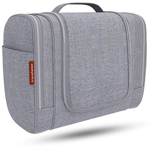 2018], Kulturtasche zum Aufhängen für Damen, Herren und Kinder, Große Kosmetiktasche mit 7 Liter Stauraum, Waschtasche, Waschbeutel in Premium-Qualität (grau) ()