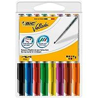 BiC Velleda - Paquete de 8 marcadores para pizarra blanca, multicolor